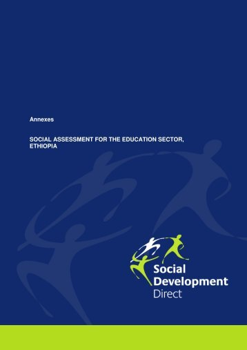 Annexes SOCIAL ASSESSMENT FOR THE EDUCATION SECTOR ...