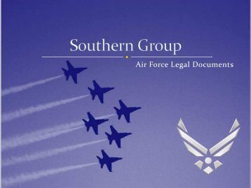 Air Force Legal Documents