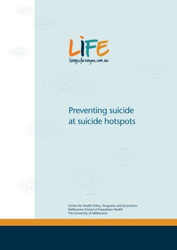 Preventing suicide at suicide hotspots - Living is for Everyone