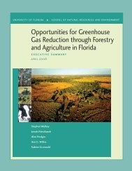 Opportunities for Greenhouse Gas Reduction through Forestry and ...