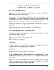 Discurso do Presidente da ACUP - Ultramar