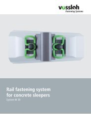 Vossloh Fastening Systems Rail fastening system for concrete ...