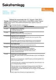 Referat fra styremøte den 27. August, Oslo 2011 - Unge ...