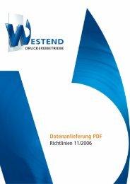 Datenanlieferung PDF Richtlinien 11/2006