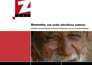 Dementie; ook onder allochtone ouderen - ActiZ Kleurrijke Zorg