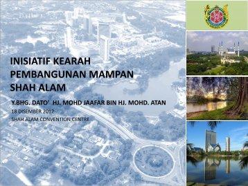 inisiatif kearah pembangunan mampan shah alam - JPBD Selangor