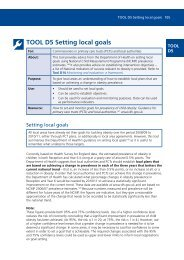 TOOL D5 Setting local goals - UK Faculty of Public Health