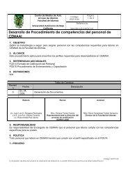 Desarrollo de Procedimiento de competencias del personal de ...