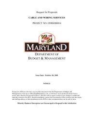 RFP Document - DoIT Website - Maryland.gov