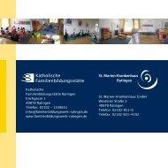 Programm der Elternschule - St. Marien-Krankenhaus GmbH