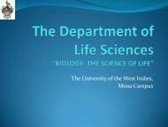 The Department of Life Sciences - Uwi.edu