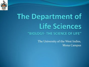 The Department of Life Sciences - Uwi.edu