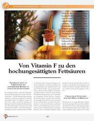 Von Vitamin F zu den hochungesättigten Fettsäuren - Cogito ...