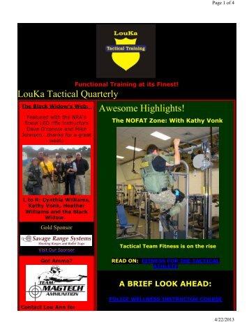 First Quarter 2013 - LouKa Tactical Training, LLC