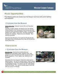 Picnic Opportunities - Santa Barbara Museum of Natural History