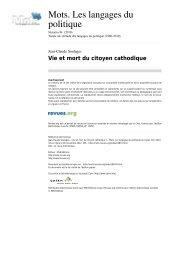 Vie et mort du citoyen cathodique - Palimpsestes