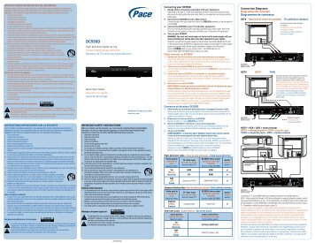 Pace DC550D - Quick Start Guide - English