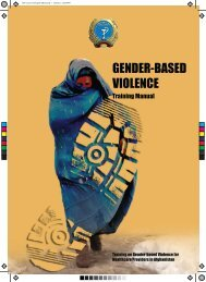 Gender-based Violence Training Manual - Ministry of Public Health ...