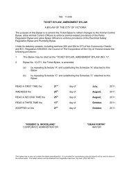 NO. 11-045 TICKET BYLAW, AMENDMENT BYLAW A ... - Victoria
