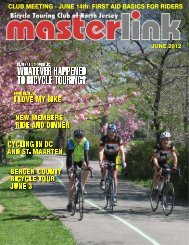 beginner's corner - the Bicycle Touring Club of North Jersey