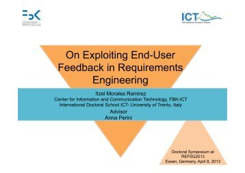 On Exploiting End-User Feedback in Requirements Engineering