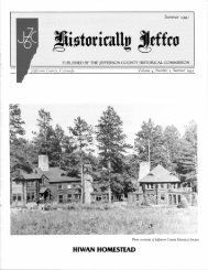 1991: Volume 4, Number 1 - Historic Jeffco