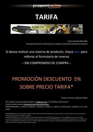 TARIFA - prosr.com