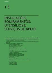 1.3 Instalações, Equipamentos, Utensílios e Serviços de Apoio