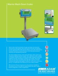 Warrior Wash-Down Scales - Adam Equipment