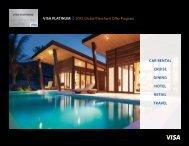 Visa PLaTiNUM 2012 Global Merchant Offer Program
