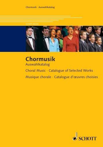 Chormusik - Schott Music