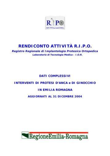 Report annuale 2004 Regione Emilia - RIPO - Cineca
