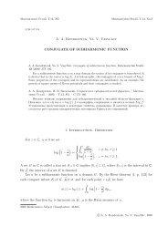 Conjugate of subharmonic function - Matematychni Studii