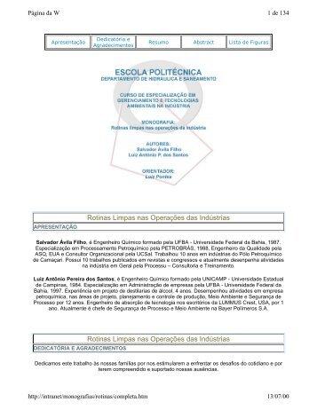 Rotinas Limpas nas Operações das Indústrias - TECLIM