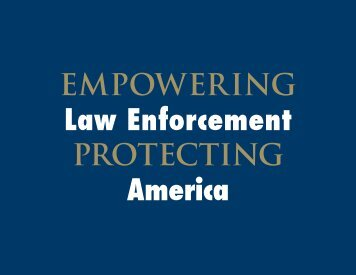 EMPOWERING Law Enforcement PROTECTING America - JINSA