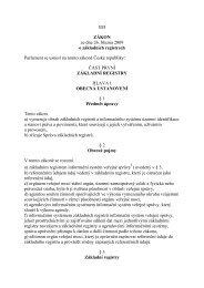 111 ZÁKON ze dne 26. března 2009 o základních registrech ...
