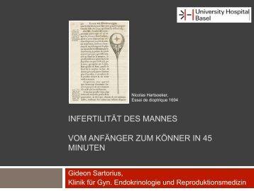 infertilität des mannes vom anfänger zum könner in 45 ... - ivf-basel