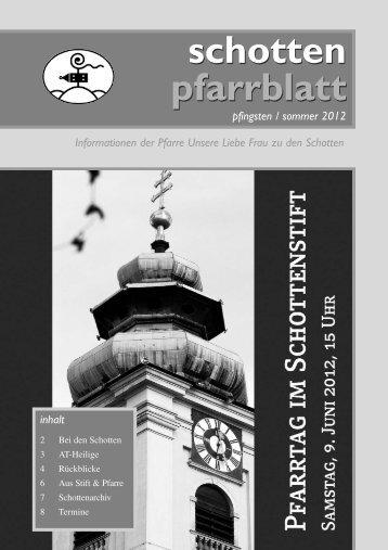 Ausgabe Nr. 39, Pfingsten 2012 - Schottenpfarre