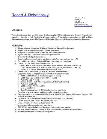 Robert J. Rohatensky Resume - SHPEGS