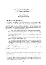 Anayasa'da Sosyal Haklar Alanı ve Sınırları
