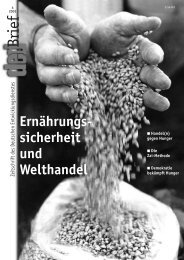 Ernährungssicherheit und Welthandel - Ernst Klett Verlag