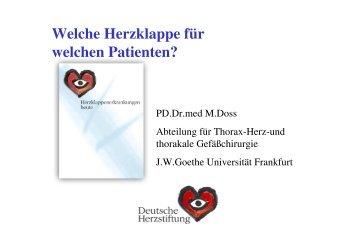 Welche Herzklappe für welchen Patienten - FINeST
