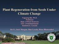 Climate Change Impact_Yugang Bai - Saskatchewan Prairie ...