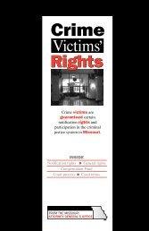 Crime Victims' Rights in Missouri - Missouri Attorney General