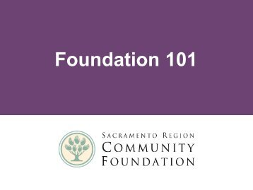 Community Foundations - Sacramento Region Community Foundation