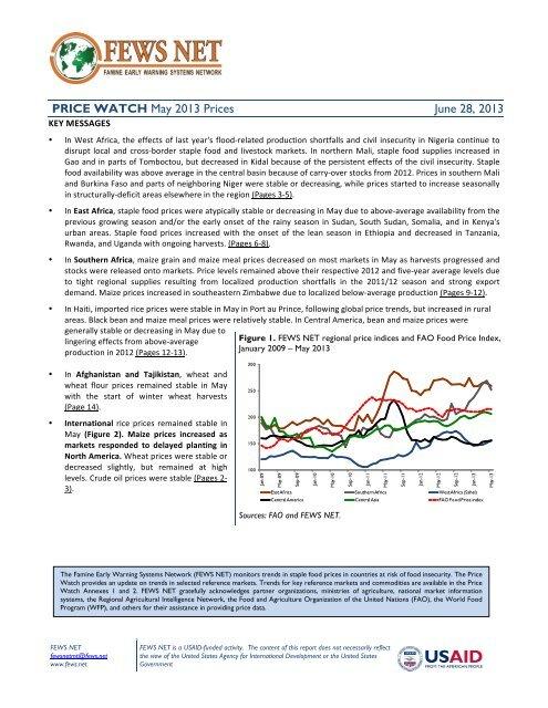 monthly price watch june 2013 - FEWS Net