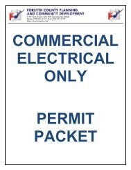 Electrical Only Permit - Forsyth County Government