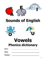 Sounds of English Phonics Dictionary - Rachel Hawkes