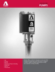 Alemite offers a selection of pumps to meet your ... - B & K Supply, Inc.