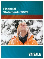 Financial Statements 2009.pdf - Vaisala